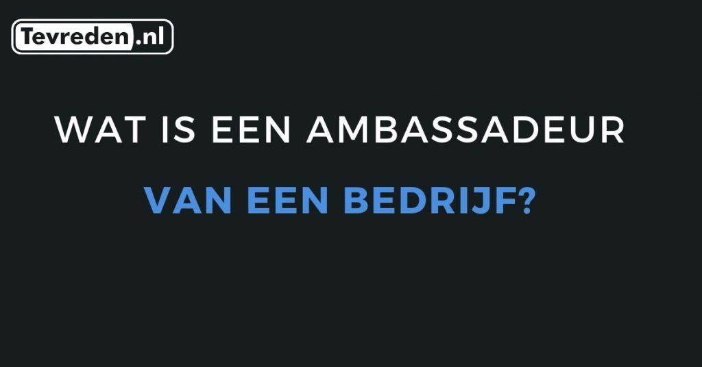 wat is een ambassadeur van een bedrijf